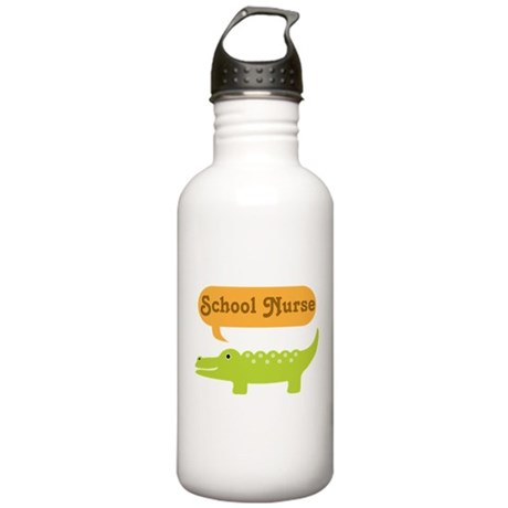 School Nurse Alligator Stainless Water Bottle 1.0L