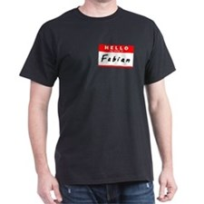 Fabian, Name Tag Sticker T-Shirt