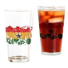 Ghana Flag Drinking Glass