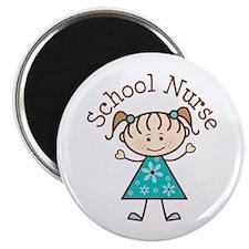 """School Nurse Stick Figure 2.25"""" Magnet (10 pack)"""
