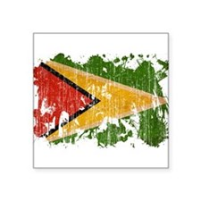 "Guyana Flag Square Sticker 3"" x 3"""