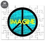 IMAGINE with PEACE SYMBOL.psd Puzzle