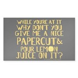 Lemon Juice Princess Bride Decal