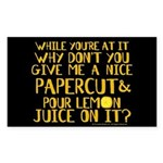 Lemon Juice Princess Bride Sticker