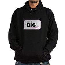 Live Big with Ali Vincent Hoodie (dark)