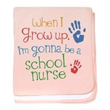 Future School Nurse baby blanket