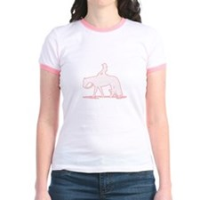 Pastel pink Western Tee Jr. Ringer Pleasure