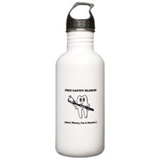 Dentist Cavity Search Black.png Water Bottle