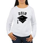 Class of 2018 Grad Hat Women's Long Sleeve T-Shirt