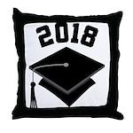 Class of 2018 Grad Hat Throw Pillow