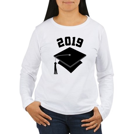 Class of 2019 Grad Hat Women's Long Sleeve T-Shirt