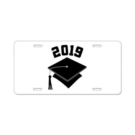 Class of 2019 Grad Hat Aluminum License Plate