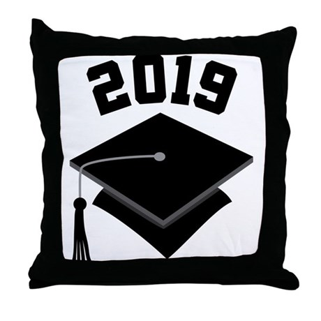 Class of 2019 Grad Hat Throw Pillow