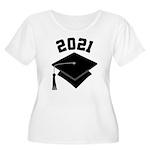 Class of 2021 Grad Hat Women's Plus Size Scoop Nec