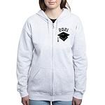 Class of 2021 Grad Hat Women's Zip Hoodie