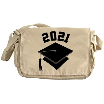 Class of 2021 Grad Hat Messenger Bag