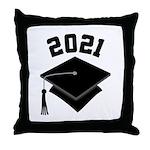 Class of 2021 Grad Hat Throw Pillow