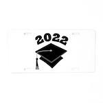 Class of 2022 Grad Hat Aluminum License Plate