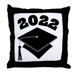 Class of 2022 Grad Hat Throw Pillow