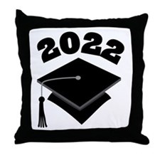 Class of 2022 Grad Hat Throw Pillow