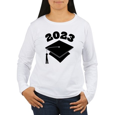 Class of 2023 Grad Hat Women's Long Sleeve T-Shirt