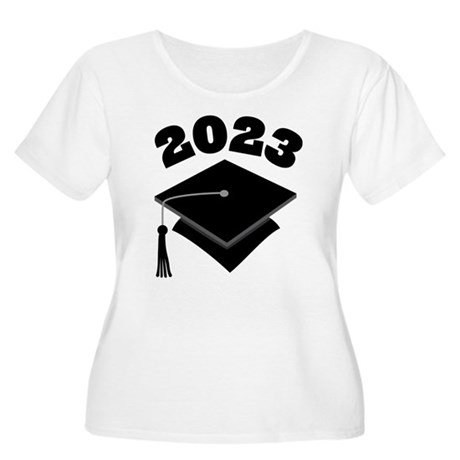 Class of 2023 Grad Hat Women's Plus Size Scoop Nec