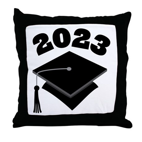Class of 2023 Grad Hat Throw Pillow