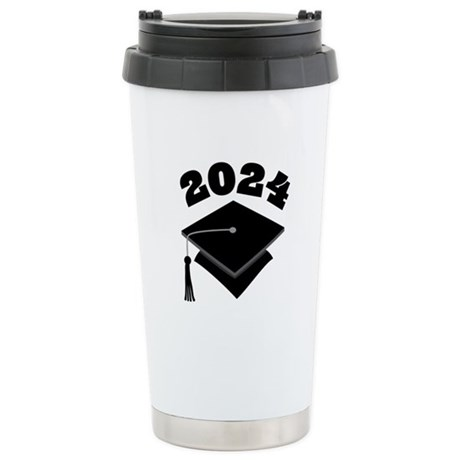 Class of 2024 Grad Hat Stainless Steel Travel Mug