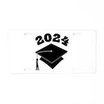 Class of 2024 Grad Hat Aluminum License Plate