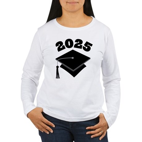 Class of 2025 Grad Hat Women's Long Sleeve T-Shirt
