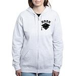 Class of 2025 Grad Hat Women's Zip Hoodie
