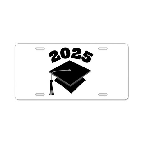 Class of 2025 Grad Hat Aluminum License Plate