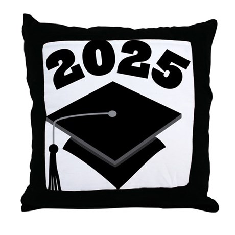 Class of 2025 Grad Hat Throw Pillow