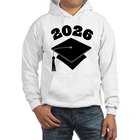 Class of 2026 Grad Hat Hooded Sweatshirt