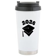 Class of 2026 Grad Hat Ceramic Travel Mug