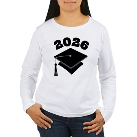 Class of 2026 Grad Hat Women's Long Sleeve T-Shirt