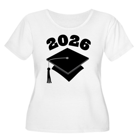 Class of 2026 Grad Hat Women's Plus Size Scoop Nec