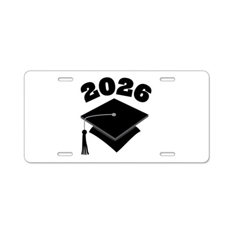 Class of 2026 Grad Hat Aluminum License Plate