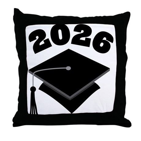 Class of 2026 Grad Hat Throw Pillow