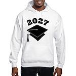 Class of 2027 Grad Hat Hooded Sweatshirt