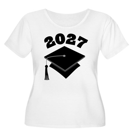 Class of 2027 Grad Hat Women's Plus Size Scoop Nec