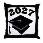 Class of 2027 Grad Hat Throw Pillow