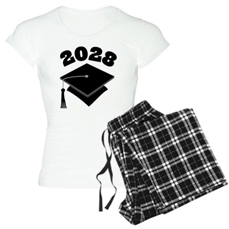 Class of 2028 Grad Hat Women's Light Pajamas
