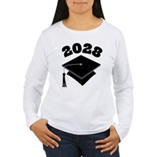 Class of 2028 Grad Hat T-Shirt