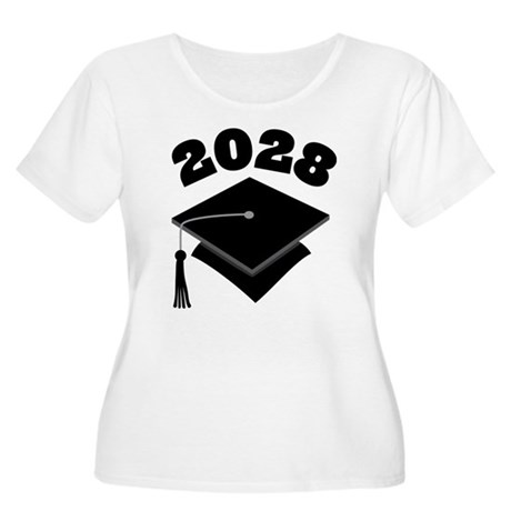 Class of 2028 Grad Hat Women's Plus Size Scoop Nec