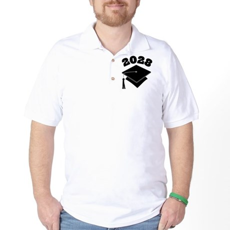 Class of 2028 Grad Hat Golf Shirt