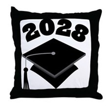 Class of 2028 Grad Hat Throw Pillow