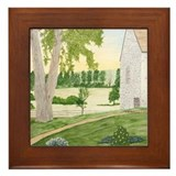 Summer Meadow and Barn Framed Tile