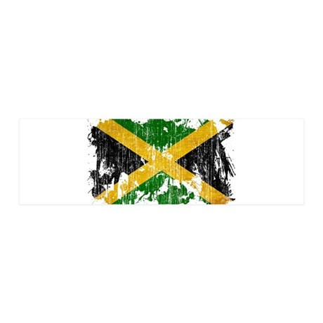 Jamaica Flag 21x7 Wall Peel