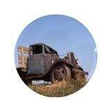 "The Hamptons: Old Potatoe Farm Truck 3.5"" Button"